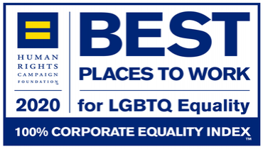 Best Place to work for LGBT Equality 2020