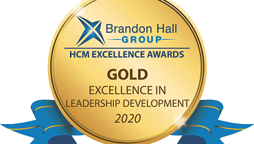 Gold level 2020 Brandon Hall Group HCM Excellence Award in the category of Best Advance in Leadership Development