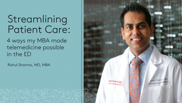 Streamlining Patient Care: 4 ways my MBA made telemedicine possible in the ED