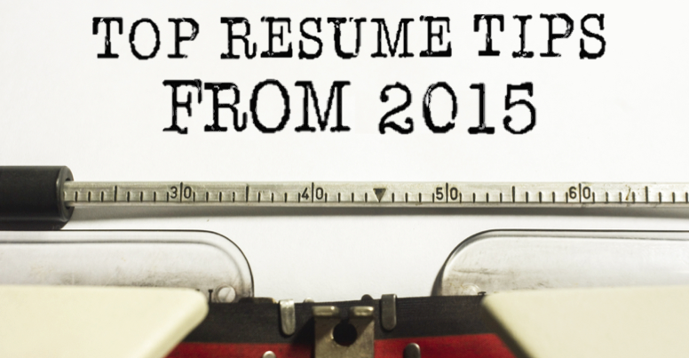 our top resume tips from 2015 ivy exec blog
