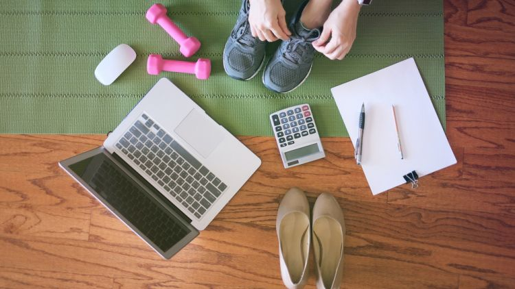 woman struggling for work like balance