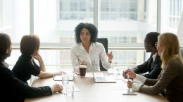 Transformational leader in a conference room leading sustainable change. Organizations crave it