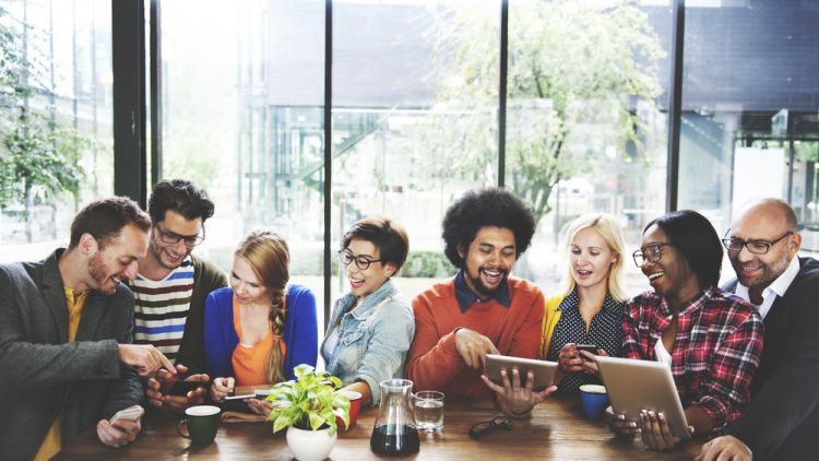 people networking and creating authentic relationships