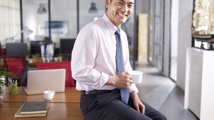 businessman looking to progress in his current role