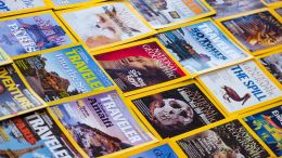 Image of national geographic magazines. How do they stay so relevant? At National Geographic, it's Relevance Over Reverence