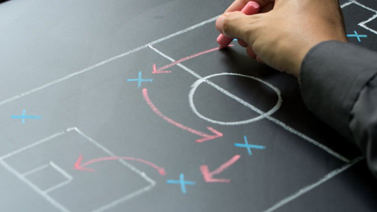 Make Bold Choices: There Is No Rule Book to Success   Why CBS Podcast. Photo of someone drawing a game plan