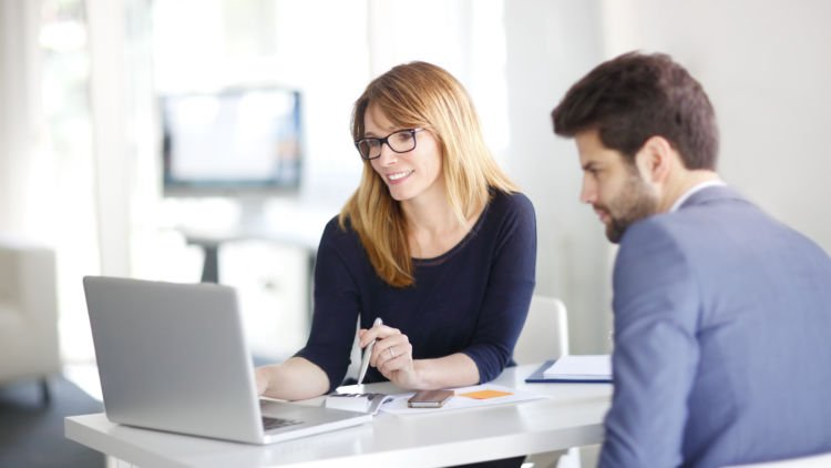 woman consulting business