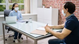 social distancing in an interview