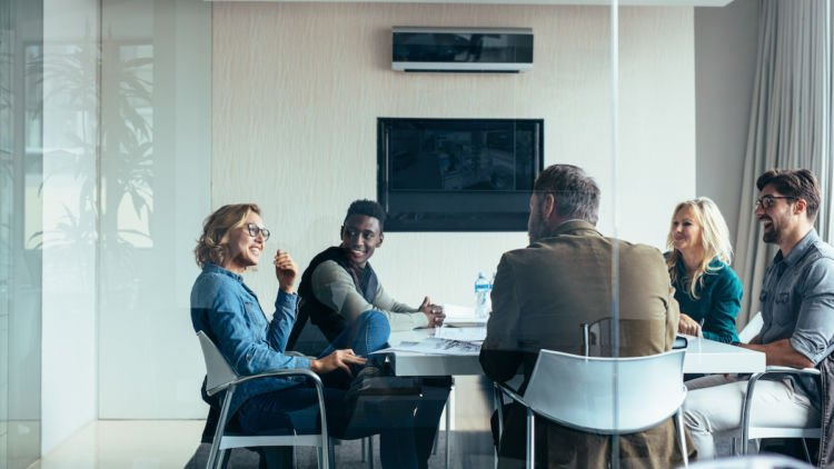 sharing success in a meeting