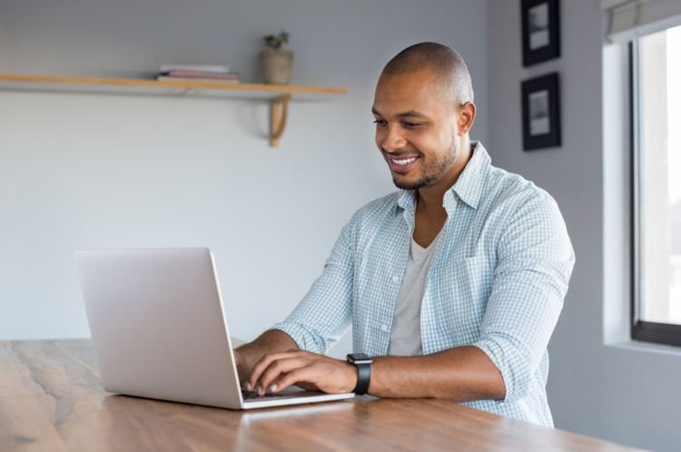 An employee works remotely during core hours